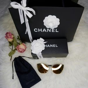 Authentic Chanel Rose Gold Glasses